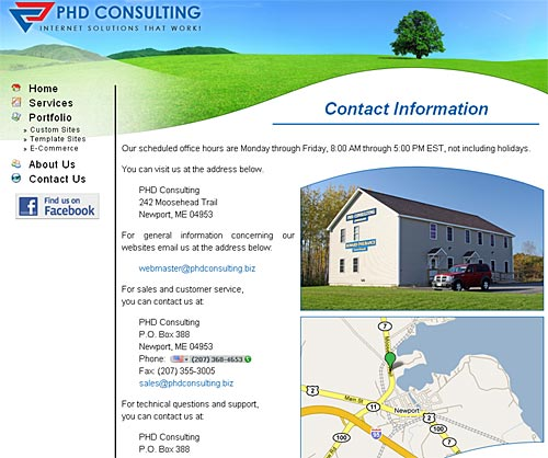 Screenshot of PHD Consulting