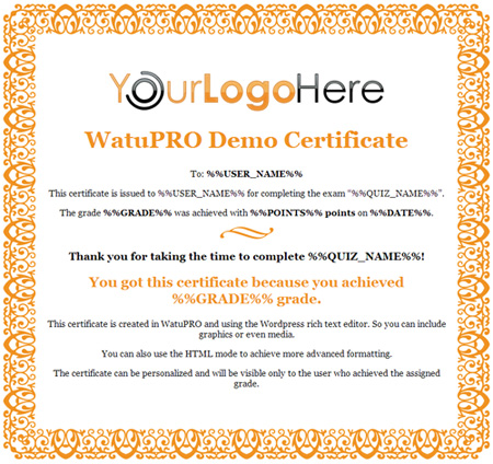 Free certificate templates for watupro calendarscripts blog certificate template 3 yadclub Choice Image