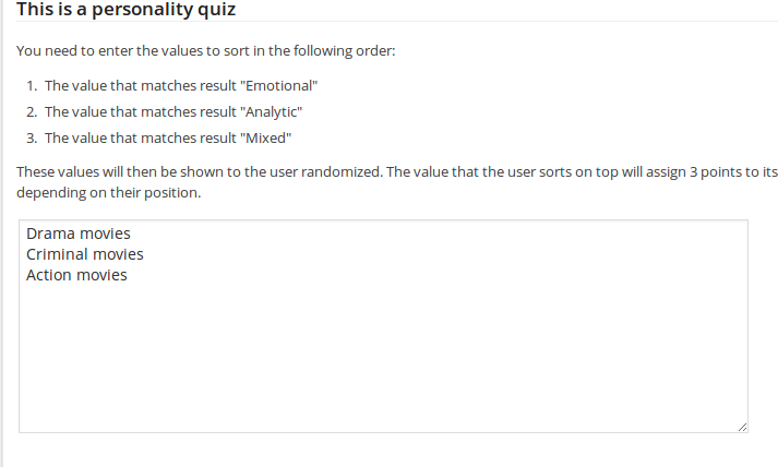 Using Sorting Questions in Personality Quizzes (WatuPRO ...